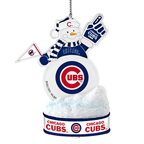 (MLB Chicago Cubs LED Snowman Ornament)