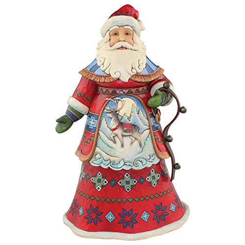 Enesco Jim Shore Heartwood Creek Lapland Santa with - Shore Jim Santa