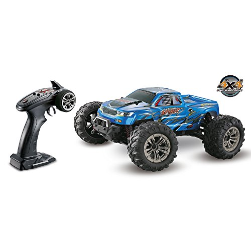 1:16 4 WD RC Car 36km/h High Speed Car - 2.4G Waterproof Shockproof Radio Conrtolled Off-Road - 9130 Off-Road RC Car, for Children Best RC Car Gift ( Blue) by Hisoul (Image #3)