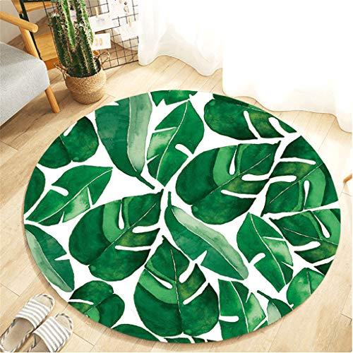 Nivalkid Botany Elements Blanket Round Bathroom, Plant Gardening Comfortable Flannel Kitchen Anti-Slip Mat Carpet Dining Room Home Bedroom Floor Carpet, Soft Kids Nursery Rug 55cm from Nivalkid