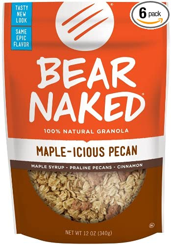 Bear Naked Granola Pouches, Maple-Licious Pecan, 12 Ounce (Pack of 6)