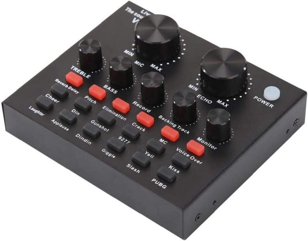 USB V8 De Audio Externo Tarjeta De Sonido De Auriculares Sonido De Emisi/ón Junta Mezclador con Efectos del Cambiador De Voz Y Sonido para Pc Telefon/ía Inform/ática