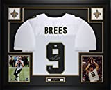 Drew Brees Autographed White Saints Jersey - Beautifully Matted and Framed - Hand Signed By Drew Brees and Certified Authentic by Auto PSA COA - Includes Certificate of Authenticity