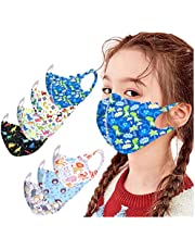 SUMSAYEI Kids Washable Reusable_Face_Masks Breathable Comfort Fabric Skincare Reusable_Face_Protection for Boys Girls School