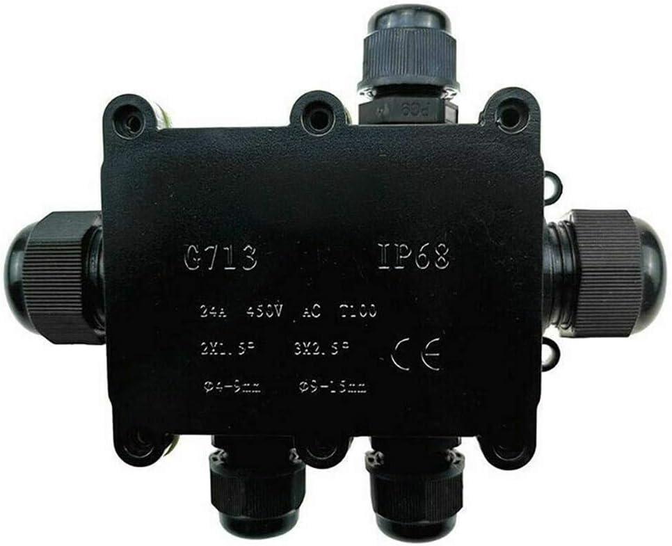 Caja de conexiones con conector de cable de 2 v/ías 6 v/ías caja de conexiones el/éctrica conector de cable IP68 resistente al agua