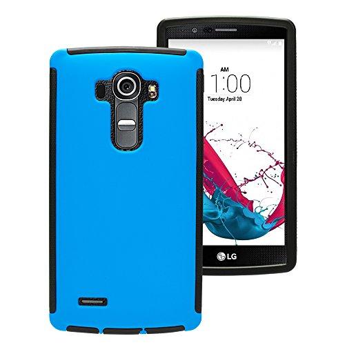 Mobilefox Touch Case Displayschutz Full Cover Schutzhülle Tasche Hard LG G4 Blau