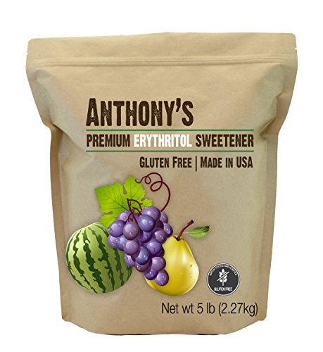 Erythritol Granules (5lbs) by Anthony's, Made in the USA, Non-GMO, Natural Sweetener by Anthony's