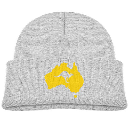 - Australia Map Kangaroo Baby Boys Warm Beanie Winter Hat Knit Cap Gray