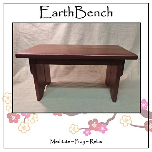 Solid Pine Small Personal Meditation Prayer Altar w/ Deluxe Metallic PLUM Finish - By EarthBench Meditation Bench Co.