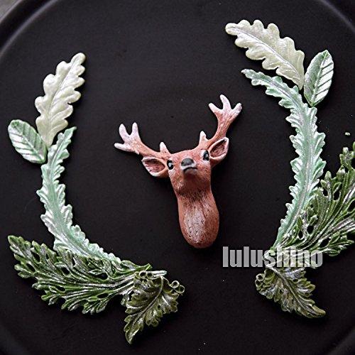 Tree Leaf Press Molding Silicone Mold Cake Decorating ...  Plane Tree Leaf Silicone Molds