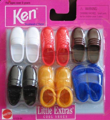 Barbie KEN Little Extras Cool Shoes & Boots (1997 Arcotoys, Mattel)