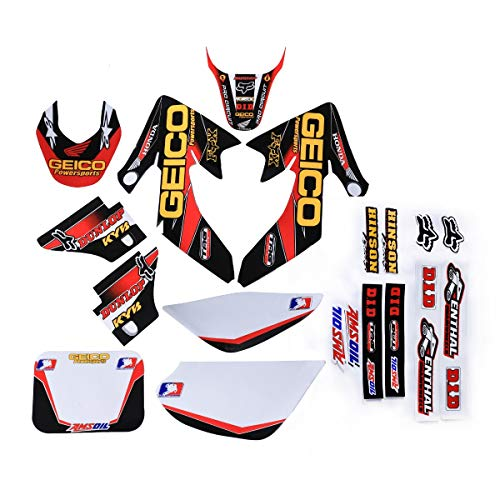TDPRO Plastic Sticker Graphics Fenders Fairing Body Decals Parts Kit For Honda CRF50 Motorcycle Dirt Pit Bike (Style 2)