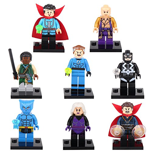 [gonggamtop Doctor Strange Ancient One Mordo Clea Beast Bolt8 Minifigures Building Toys] (Secret Agent Halloween Costume For Kids)