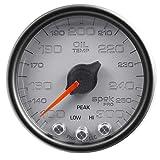 Auto Meter P32222 Gauge, Oil Temp, 2 1/16'', 300ºf, Stepper Motor W/Peak & Warn, Slvr/Blk, Spek-Pro