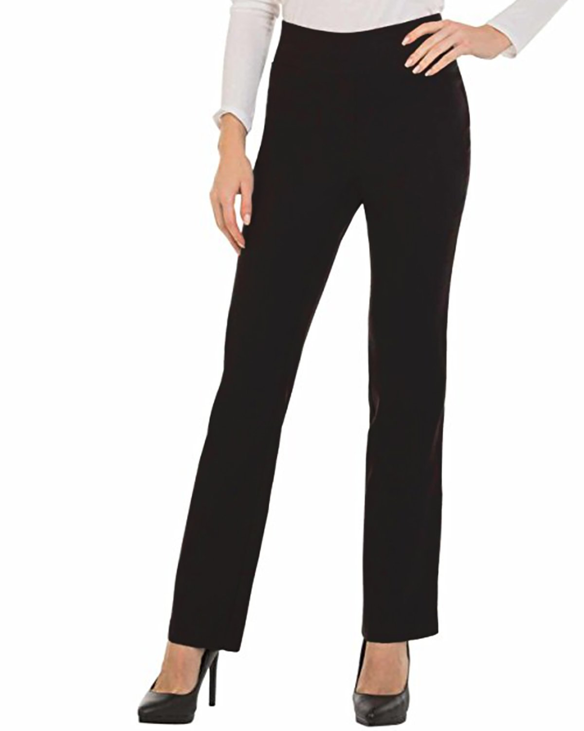 Kidsform Women Dress Pants Boot-Cut Trousers High Waist Straight Leg Slim Fit Causal Office Work Pants