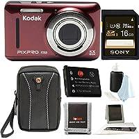 Kodak PIXPRO Friendly Zoom FZ53 (Premium Bundle, Red)