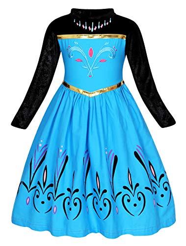 519BeoT5OXL Precioso vestido con capa para vestir a tu princesita Elegante cuello alto de terciopelo y manga larga, el dusfeaz está hecho de tela de aturdimiento, cómodo de llevar algodón, poliéster