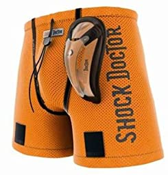 Shock Doctor Boy\'s Loose Hockey Jock with BioFlex Cup (Large, Orange)