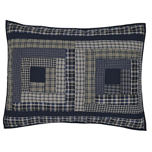 VHC Brands Classic Country Rustic & Lodge Bedding - Columbus Blue Sham Standard