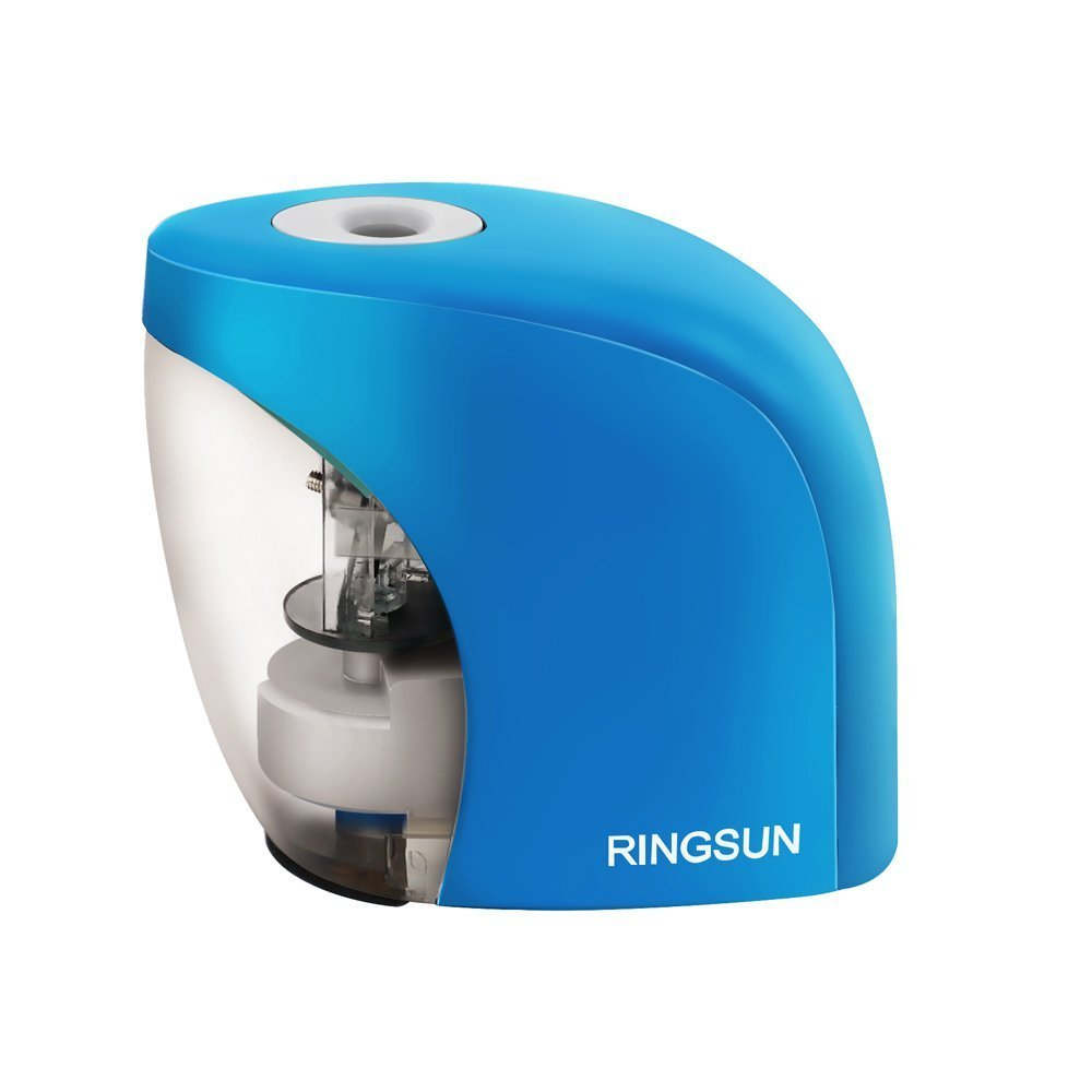 Electric Pencil Sharpener, BENGOO Pencil Sharpener with Auto Feature for 8mm diameter Pencils and Eyebrow pencils for School Classroom Office Use-Blue (Batteries not included)
