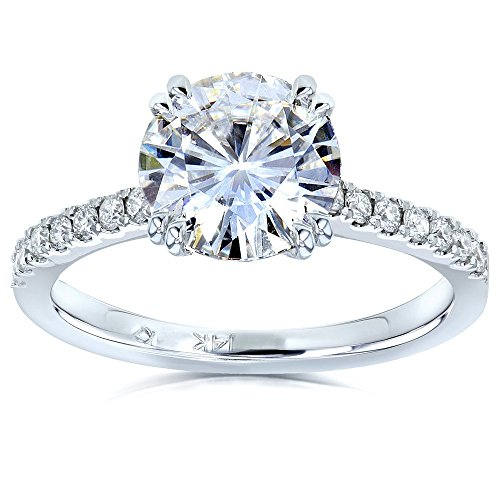 Moissanite and Lab Grown Diamond Engagement Ring 2 for sale  Delivered anywhere in USA
