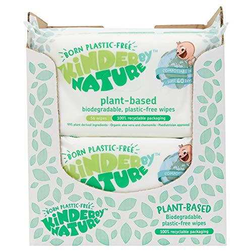 Kinder by Nature Plant Based Baby Wipes – 100% Biodegradable & Compostable, 672 Count (12 Packs of 56) – 99% Plant-Based…