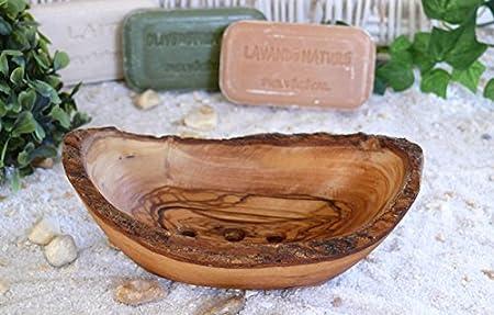 2 Pezzi in bamb/ù Naturale portasapone per Cucina e Bagno portasapone in Legno con Coperchio LouisaYork