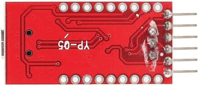 FT232RL Modulo adattatore seriale da USB a TTL FTDI per porta mini Arduino FT232 Supporto linea di download per compatibilit/à 3,3V 5V