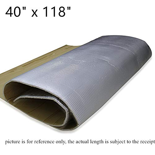 SHINEHOME 6mm 236mil Car Sound Deadener Deadening Heat Insulation Mat Noise Insulation and Dampening Mat Heat Proof Mat 40 inches x 118 inches 32.30sqft ()