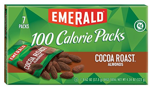 Emerald Cocoa Roast Almonds, 100 Calorie Pack, 0.62 oz Bags, 7 Count, (Pack of 12)