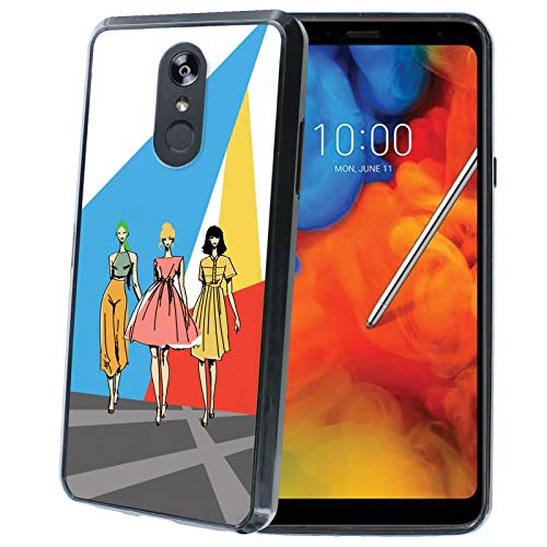 (LG Stylo 4 / Stylo 4 Plus Phone Cover Case by [TalkingCase], Black Premium Thin Edge Bumper Case, Duo-Layer Slim Gel, Made Specially for LG Stylo4,Stylo4 Plus [Runway Fashion Girls] Print in USA)