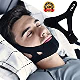 Anti-Snoring Chin Strap -KAKYO New Upgrade Most Effective Snoring Solution and Face-Lifting Artifact - Snoring Belt - Stop Snoring Sleep Aid for Men and Women (Black)