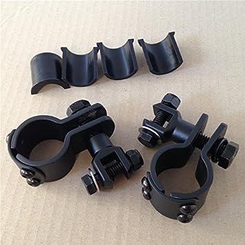 1 1//4 Engine Guard Footpeg Clamps Mounting Kit For Harley Davidson Black