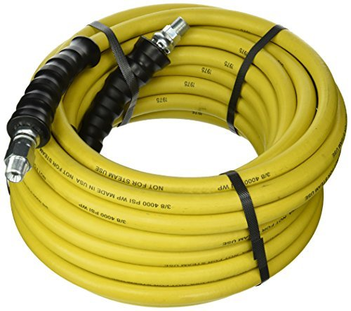 - Good Year 12630 Rubber Pressure Washer Hose, 50' x 3/8, Yellow by Goodyear