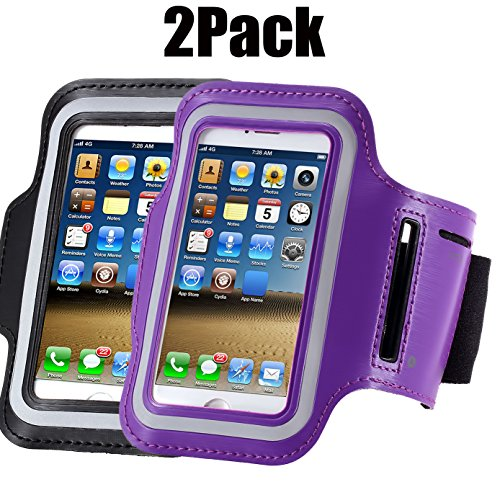 Armband For iPhone 8/8plus/7/6/6S Plus,samsung Galaxy s8 s7 s6 Edge s8+,Note 5.etc.CaseHQ Adjustable Reflective Velcro Exercise Running Pouch Key Holder,Screen Protector-Hiking,Biking (10' Through Wall Fan)