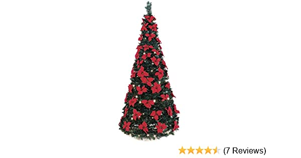 amazoncom the 6 pop up poinsettia tree home kitchen - Fully Decorated Christmas Tree For Sale