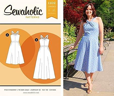 bc9804da93a35 Sewaholic Sewing Pattern Lonsdale Dress: Amazon.co.uk: Kitchen & Home