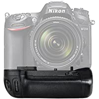 SAMTIAN BG-2N Vertical Battery Grip for Nikon D7100 D7200 Replacement for MB-D15 Work with EN-EL15 or 6 AA Batterie
