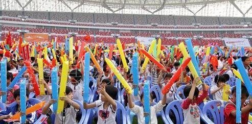 Inflatable Noisemakers Cheerleading Plastic Clap Hands Outfit kings deal Bam Bam Thunder Sticks
