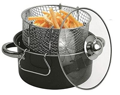 Carbon Steel Gourmet Non-Stick Deep Fryer Set