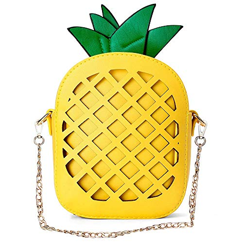 Yuboo Women's Pineapple Purse,Fruit Shaped Pu Leather Shoulder Bag (1-pineapple) ()