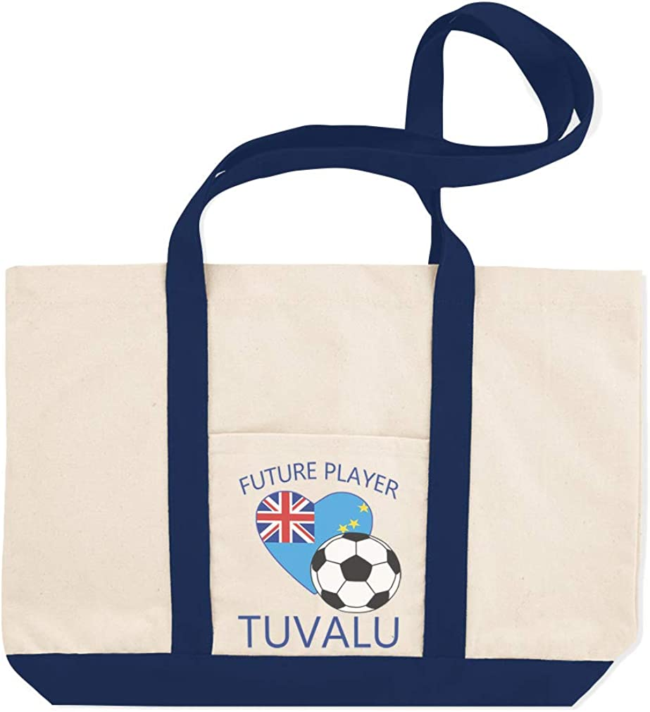 Canvas Shopping Tote Bag Future Soccer Player Tuvalu Sports Beach Bags for Women