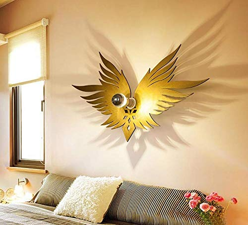 Angels Sconce - Pendant Light Industrial Design E27 Wall Lamp Creative Bedroom Bedside Wall Lamp Led Children's Wall Lamp Boy Wall Lamp The Wings of The Angels /61 35 cm
