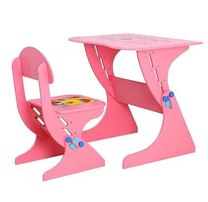 Strange Amazon Com Childrens Desk Chair Wood Set Height Adjustable Forskolin Free Trial Chair Design Images Forskolin Free Trialorg