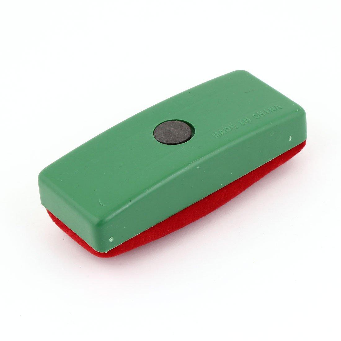 Sourcingmap Cancellino magnetico verde e rosso in velluto per lavagna