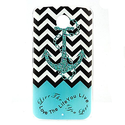 WEAPOWER(TM) Case Cover For Google MOTOROLA NEXUS 6 Love The Life You Live Original Beautiful Anchor Plastic Hard Protective Mobile Phone Case Cover