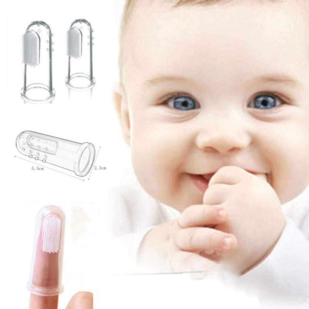 Baby-Zahnb/ürste Finger Zahnb/ürste f/ür Babys Silikon BPA-frei Babys ersten Zahnb/ürste Babys Training Zahnb/ürste f/ür Babys und Kleinkinder und Kinder