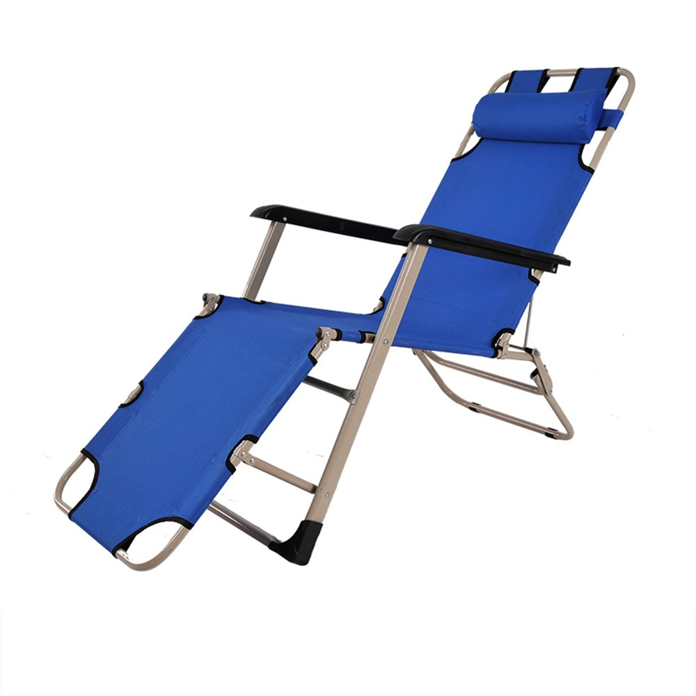 Folding bed / Folding chair / Lunch bed / Office bed / Camp bed / Reinforced beach chair / Reinforced pipe Folding chair / Three color optional chair / Single-tube rocking chair ( Color : B )