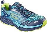 Skechers Men's GOtrail Ultra 3 Climate Series Running Shoe,Navy/Lime,US 11 M