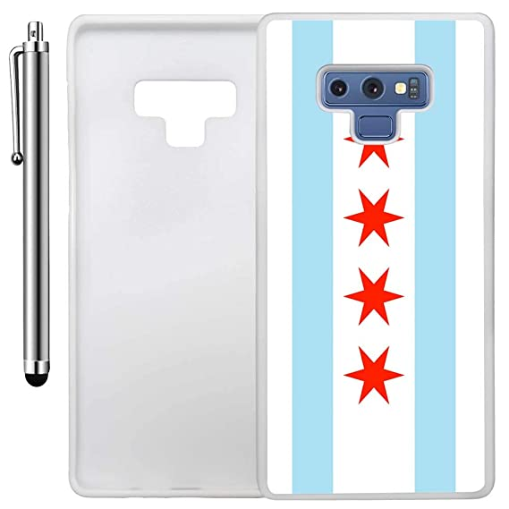 huge discount 621cb 4d6c7 Amazon.com: Custom Case Compatible with Galaxy Note 9 (Chicago Flag ...